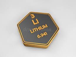 Lithium - Li - Chemical Element Periodic Table Hexagonal Shape ...