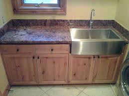 utility sink countertop laundry room aqua stainless steel sinks awesome chrome rectangle a front with wooden
