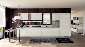 scavolini mood kitchen light scavolini contemporary kitchen. Pearl Grey Leather Doors For Wall Units And Switch Cupboards, With Visible Stitching. Scavolini Mood Kitchen Light Contemporary