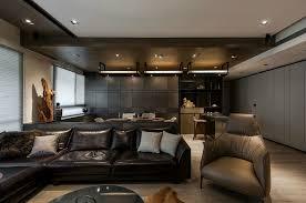 Masculine Interior Design Impressive Stone And Wood Make A Dark Masculine Interior
