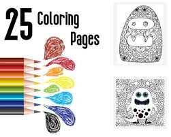 Get free printable coloring pages for kids. Halloween Coloring Pages For Spooky Littles Scary Cute Etsy