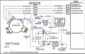 4th gen lt1 f body tech aids distributor ignition system schematic 1993