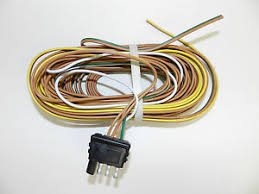 trailer wire harness 4 way plug flat 25 039 trailer wiring image is loading trailer wire harness 4 way plug flat 25