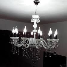 luxury european crystal candle living room chandelier bedroom white glass light dining room ceiling pendant lamps restau chain lamps designer pendant