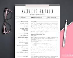Resume Template Marketing Marketing Resume Etsy