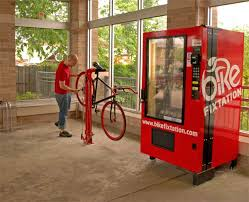 Latest Vending Machine Trends Impressive New Vending Machine Tempts Bicyclists With Repair Supplies And