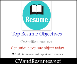 Top 100 Sample Resume Objectives Career Objective Example