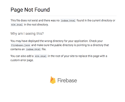 Firebase hosting Page Not Found error on empty cache and hard reload ...