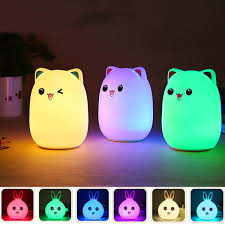 Pink Night Light Us 16 03 Led Small Night Light Sleeping Lamp Baby Room Rabbit Bear Light Kids Bed Lamps Remote Control Home Decor From Home And Garden On