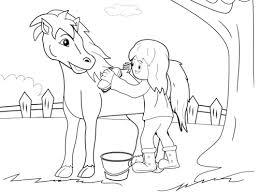 Paard Verzorgen Kleurplaat Kleurplaten Printen Op Minipretnl