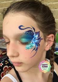 Henna Face Paint Designs Inspired By Karen Huwen My Take On A Fancy Eye Design Eye
