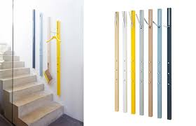 clothing hooks modern wall mounted coat rack schonbuch line wall coat storage astounding modern