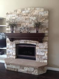 remodel brick fireplace to stone