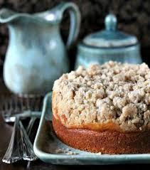 Amaretto Cream Cheese Coffee Cake Recipe with Cinnamon Streusel