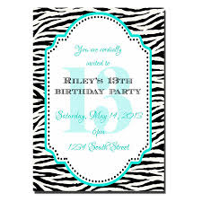 13 Birthday Invitation Templates 13 Year Old Birthday Party Invitations Party Ideas For Kids 13th