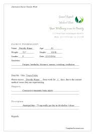 Fake Doctors Note With Signature Free Printable Dr Notes For