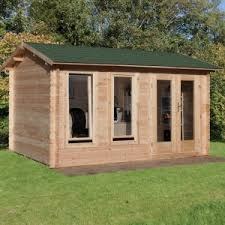 office garden shed. Hartwood 4m X 3m Newton Log Cabin Office Garden Shed O