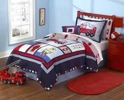 fire truck bed sets firemen boys bedding twin quilt set embroidered cotton firefighter bedspread blue red fire truck bed sets