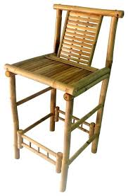 tiki bar stool bamboo bar stool with back support set of 2 tiki bar stools with