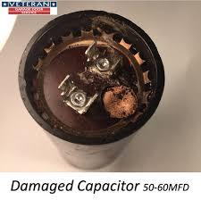 damaged starter capacitor 50 60mfd