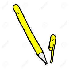 retro ic book style cartoon pen stock vector 35803296