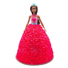 Barbie Sparkle Pink Dress Doll Cake The Cupcake Queens