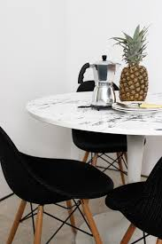 marble dining table ikea hack
