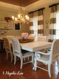 white chalk painted dining room table
