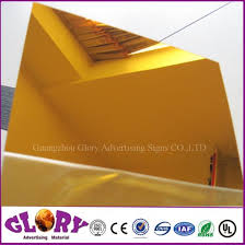 china anti scratch gold acrylic mirror