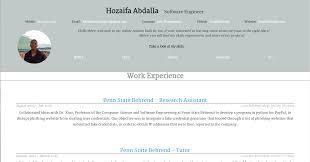 Json Resume Hozaifa's Resume 45