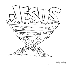 Small Picture Baby Jesus In A Manger Coloring Page And Coloring Page