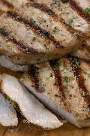 grilled pork chops with lemon herb