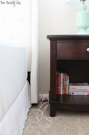 how to hide and organize bedside cords