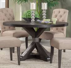 round dining table. Alpine Furniture Newberry Round Dining Table In Salvaged Grey 1468-25 By Rooms Outlet Z