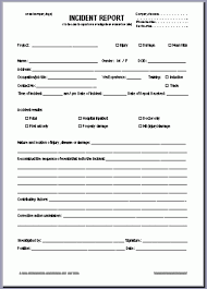 Template Incident Report Form