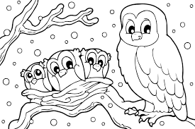 Small Picture Winter coloring pages snowy owl ColoringStar