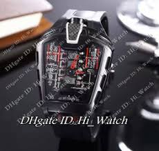 dropshipping cheap plastic watch straps uk uk delivery on super clone luxury brand cheap new black mp 05 mp05 laferrari masterpiece skeleton black rubber strap v12 engine swiss quartz mens watch 114 dropshipping uk