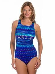 Longitude Swimwear Size Chart Longitude Plus Ocean Swirls Highneck Lo12140