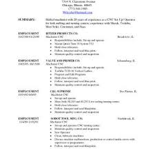 Sample Resume Of Machine Operator For Production Inspirationa