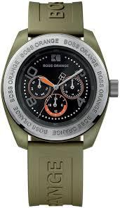 hugo boss orange green rubber men s watch 1512551 watchtag com hugo boss orange green rubber men s watch 1512551