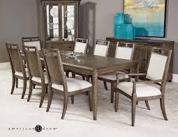 American Drew Park Studio Contemporary 9 Piece Dining Room Table Set