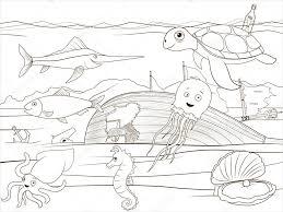 ぬりえ本海生活漫画教育 ストックベクター Alexanderpokusay 87273460
