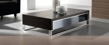 modern coffee table in dark oak chrome medium glass tables for round patio set excellent