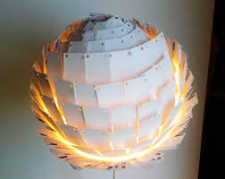 recycled lighting. recycled last light lamp is made from 350 outdated business cards lighting s