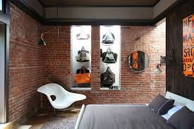 view in gallery fashionable collection of bags on display in the quirky bedroom