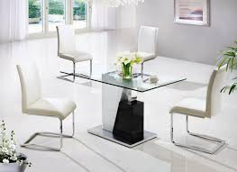 modern glass dining room tables. Fabulous Small Modern Dining Table 6 Futuristic Room Tables Set Crystal Chandelier In White Chair Design Glass