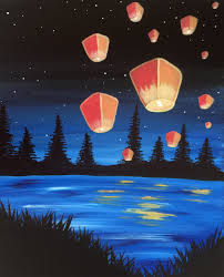 paint nite lantern lake