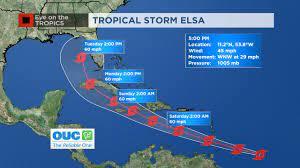Tropical Storm Elsa continues fast ...