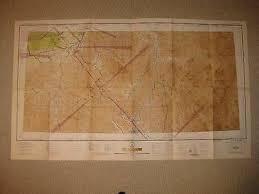 Huge Rare Antique 1944 La Grande Oregon Aeronautical Chart