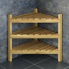 oak corner shelf unit solid oak tall slatted corner shelving storage unit oak corner units shelves